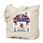 Jennings Family Crest Tote Bag