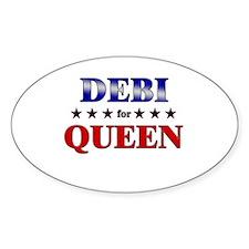 DEBI for queen Oval Decal