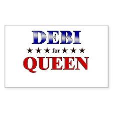 DEBI for queen Rectangle Decal
