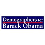 Demographers for Obama car sticker