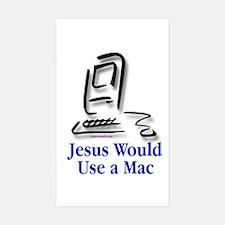 Jesus & Macintosh Rectangle Decal