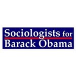Sociologists for Barack Obama sticker