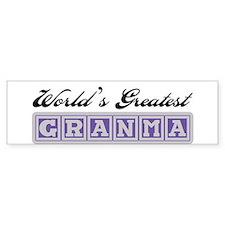 World's Greatest Granma Bumper Bumper Sticker