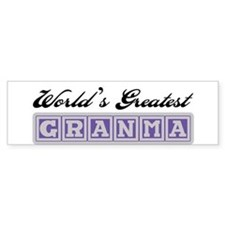 World's Greatest Granma Bumper Bumper Stickers
