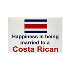 Happily Married To Costa Rican Rectangle Magnet