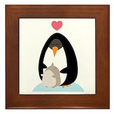 Penguin Love Framed Tile