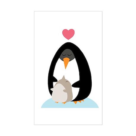 Penguin Love Rectangle Sticker
