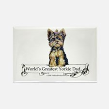 Yorkshire Terrier Dad! Rectangle Magnet