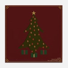 Quilted Christmas Tile Coaster