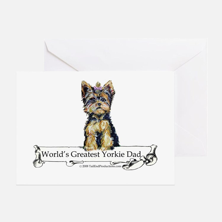Yorkshire Terrier Dad! Greeting Card