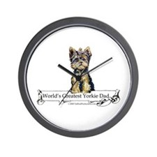 Yorkshire Terrier Dad! Wall Clock