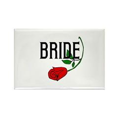 Gothic Rose Bride Rectangle Magnet