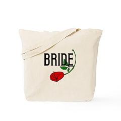 Gothic Rose Bride Tote Bag