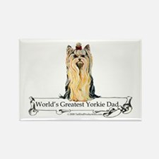 Greatest Yorkshire Terrier Rectangle Magnet