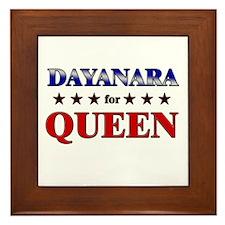 DAYANARA for queen Framed Tile