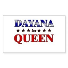 DAYANA for queen Rectangle Decal