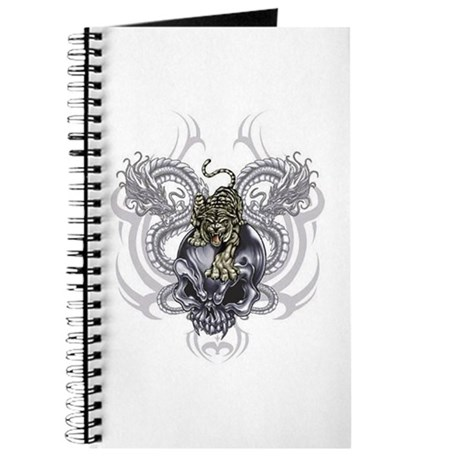 Tiger and Skull Journal