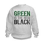 Green Is The New Black Kids Sweatshirt