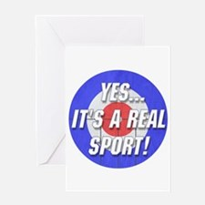 A Real Sport! Curling Greeting Card