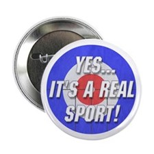 """A Real Sport! Curling 2.25"""" Button"""