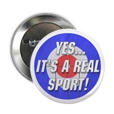 """A Real Sport! Curling 2.25"""" Button (10 pack)"""