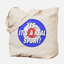 A Real Sport! Curling Tote Bag