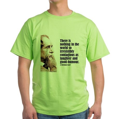 "Dickens ""Laughter"" Green T-Shirt"