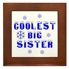 Coolest Big Sister Framed Tile