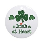 Irish at Heart St Patrick's Ornament (Round)