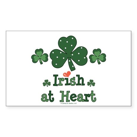 Irish at Heart St Patrick's Rectangle Sticker