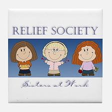 Relief Society Tile Coaster