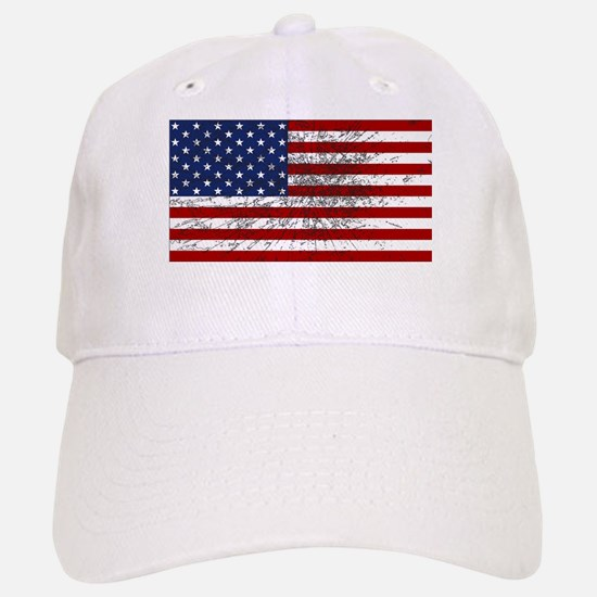 American Flag Grunged Baseball Baseball Cap