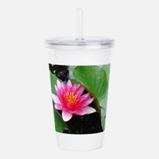 Water Lily Acrylic Double-wall Tumbler