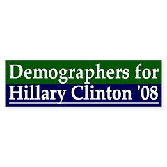 Demographers for Clinton car decal
