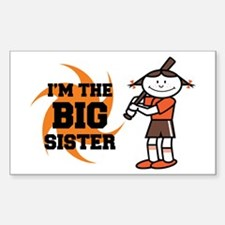 I'm The Big Sister Rectangle Decal