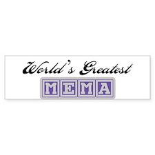 World's Greatest Mema Bumper Bumper Sticker