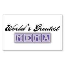 World's Greatest Mema Rectangle Bumper Stickers