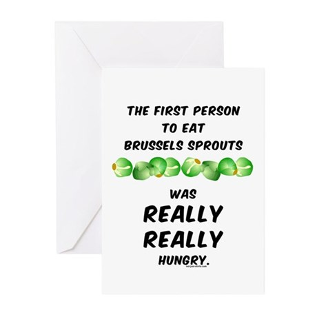 Brussels Sprouts Greeting Cards (Pk of 20)