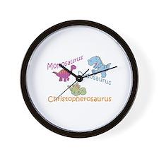 Mom, Dad & Christopherosaurus Wall Clock