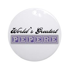 World's Greatest Pepere Ornament (Round)