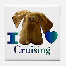 I Heart ( Love ) Cruising  Tile Coaster