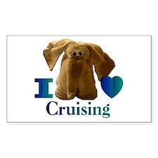 I Heart ( Love ) Cruising Rectangle Decal