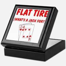 """Flat Tire"" Keepsake Box"
