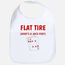 """""""Flat Tire"""" Bib"""