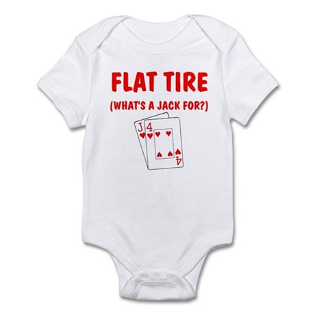 """Flat Tire"" Infant Bodysuit"