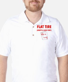 """Flat Tire"" Golf Shirt"