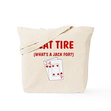 """Flat Tire"" Tote Bag"
