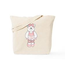PINK BALLERINA BEAR Tote Bag