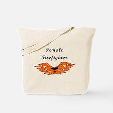 Female Firefighting Tote Bag