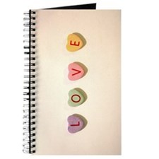 Retro Candy Hearts Love Journal